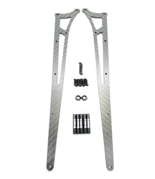 Assault RC Carbon Fiber Adjustable Street Eliminator Wheelie Bar (DR10) (Black)