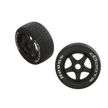 Arrma 1/7 dBoots Hoons Front 100 Pre-Mounted Belted Tires, 17mm Hex (2) (ARA550062)