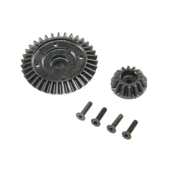 Team Losi Racing Ring and Pinion, Composite (Center Diff Only): 22X-4