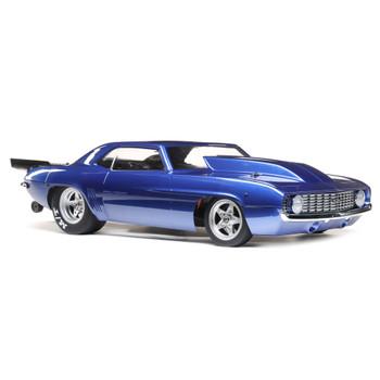 Losi 1/10 '69 Camaro 22S No Prep Drag Car, Brushless 2WD RTR (Blue)