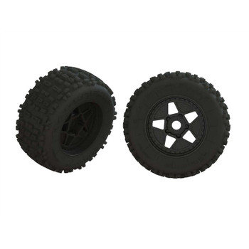 Arrma dBoots Backflip Tire Set, Glued (1 pair) (ARA550064)