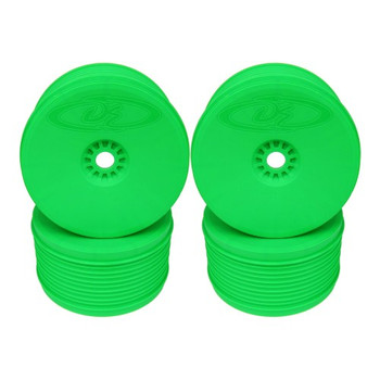 Speedline Plus 1/8 Truggy Wheels, Green (4 Pack) (DER-PT4-8G)