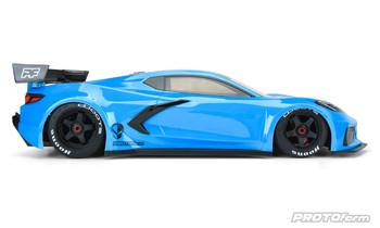 Protoform Chevrolet Corvette C8 Clear Body for ARRMA Felony & Infraction