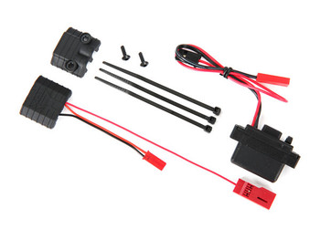 TRAXXAS LED lights, power supply (regulated, 3V, 0.5-amp)/ power tap connector (with cable)