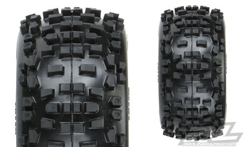 "Pro-Line Badlands 3.8"" All Terrain Tires Mounted Removable Hex 17mm Wheels"
