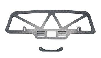 Assault RC Carbon Fiber Front Bumper (Custom Works Intimidator/Rocket 4)