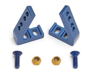 Team Associated FT Angled Servo Mounts (Blue) (ASC4562)