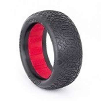 "AKA ""EVO"" Chain Link 2.2"" Front 4WD Buggy Tires (2) (Clay) (AKA13322CR)"