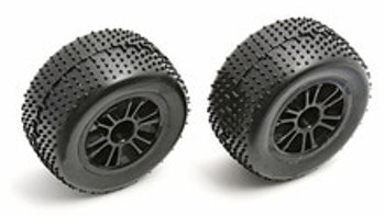 TEAM ASSOCIATED SPOKE RC18B/T WHEEL/TIRE REAR - BLACK (ASC21281)