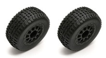TEAM ASSOCIATED SC18 MOUNTED WHEEL/TIRE (ASC21352)