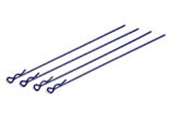 TEAM ASSOCIATED Factory Team Long Body Clips (Metallic Blue) (4) (ASC1735)