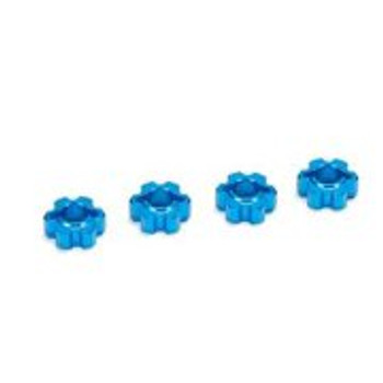 ECX Aluminum Wheel Hex Set (Blue) (All 4wd Vehicles)