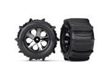 """Traxxas Paddle Tires 2.8"""" Pre-Mounted w/All-Star Nitro Front Wheels (2) (TRA4175)"""