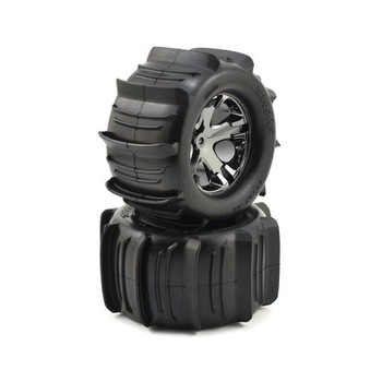 """Traxxas Paddle Tires 2.8"""" Pre-Mounted w/All-Star Electric Rear Wheels (2) (TRA3689)"""