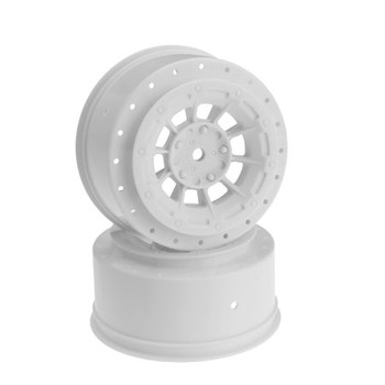 JCONCEPTS HAZARD - SC10/SC10 4X4/SC5M WHEEL White - 3MM OFFSET