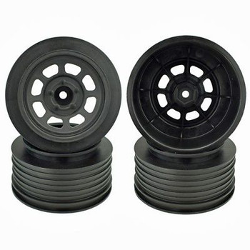 DE Racing Speedway Short Course Wheels (Black) (2) (21.5mm Backspace) (Slash Rear) w/12mm Hex