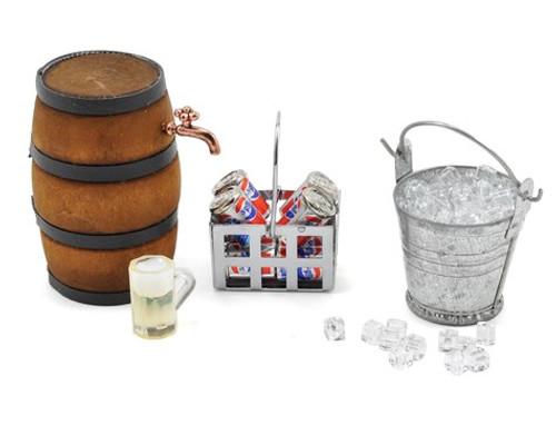 Yeah Racing Scale Crawler Camping Set w/Ice, Bucket, Coke, Crate, Barrel (YEA-YA-0368)