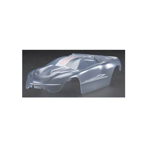 Traxxas 1/16 E-Revo Body w/Grill & Light Decals (Clear) (TRA7111)