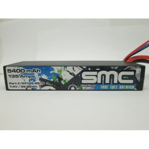 SMC True Spec Premium 7.4V 5400mAh 104Amps/50C wired with Traxxas connector9 (SMC54135-2S1PT)