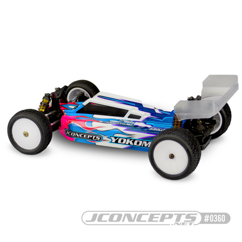 "JConcepts YZ-4 ""F2"" 4WD Buggy Body w/6.5"" Aero S-Type Wing (Clear)"