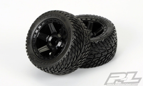 Pro-Line 30 Series Road Rage 2.8 w/Desperado Nitro Rear Wheels (2) (Black) (PRO1172-12)