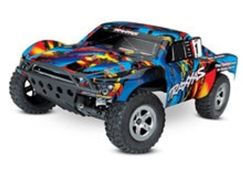 TRAXXAS Slash 1/10 RTR Electric 2WD Short Course Truck w/TQ 2.4GHz Radio System - Rock N Roll (TRA58024-RNR)