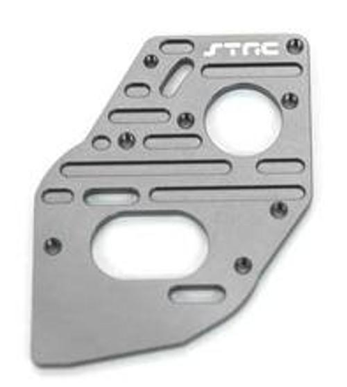 STRC BILLET FINNED MOTOR PLATE - SC10 4X4 (GUN METAL)