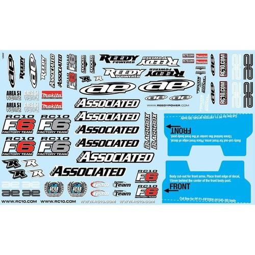 Team Associated RC10F6 Decal Sheet (ASC8690)