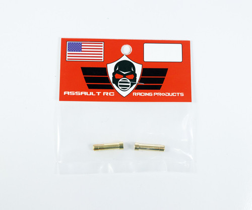 Assault RC High Current 5mm to 4mm Gold Plated Bullet Reducers (2)