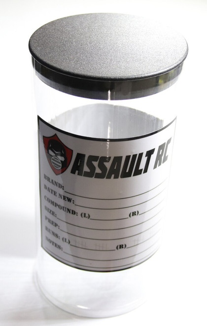 Assault RC 1/10 Oval Clear Tire Tubes w/Extra Tire Ledger