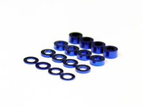 Assault RC Revolver M3 Ball Stud Washer Set (Blue) (16)