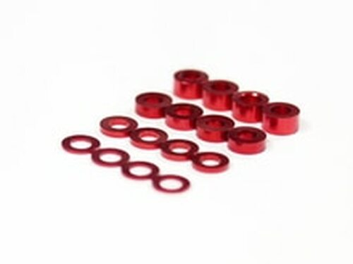 Assault RC Revolver M3 Ball Stud Washer Set (Red) (16) (ARC71056)