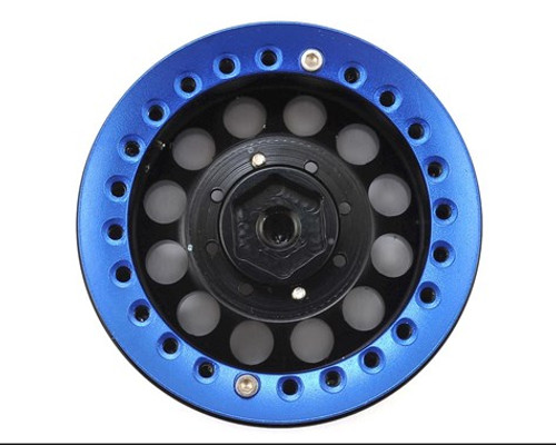 "Xtra Speed Aluminum 1.9"" Iron Clock Mass Beadlock Wheel (Blue) (2) (XS-59564BU)"