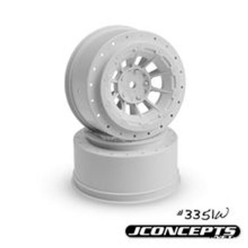 JConcepts 12mm Hex Hazard Short Course Wheels (White) (2) (Slash Front)