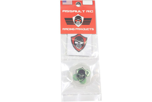Assault RC Revolver M4 Serrated Wheel Nut Set (Green) (4)