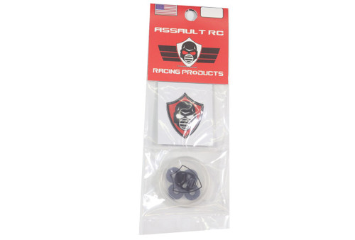 Assault RC Revolver M4 Serrated Wheel Nut Set (Black) (4)