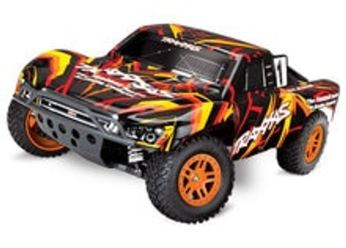 Traxxas Slash 4X4 1/10 Scale 4WD Brushed Electric Short Course Truck with TQ 2.4GHz Radio System (Orange) (TRA68054-1-ORAN)