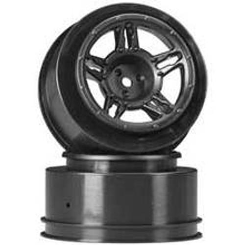DURATRAX SC Wheel Black Rear Slash rear/Blitz/SCRT10 (2) (DTXC3825)