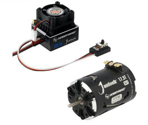 Hobbywing - XR10 Justock ESC, w/ Justock 3650 SD G2.1 Sensored Brushless Motor (17.5 Turn) - Combo