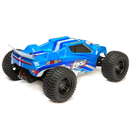 Losi 22S ST RTR 1/10 2WD Brushless Stadium Truck (Blue/Silver) w/2.4GHz Radio & AVC