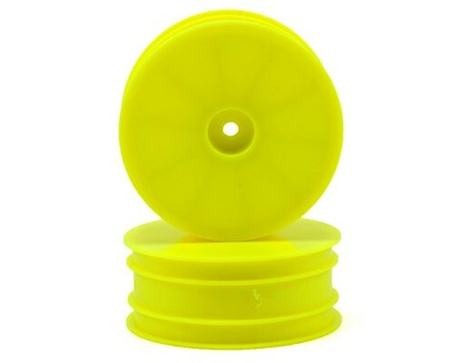 Serpent 12mm Hex 1/10 2WD Front Buggy Wheels (2) (SRX-2) (Yellow)