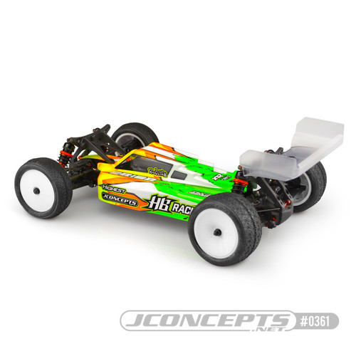 "JConcepts HB D418 ""F2"" 1/10 Buggy Body w/6.5"" Aero Wing (Clear)"
