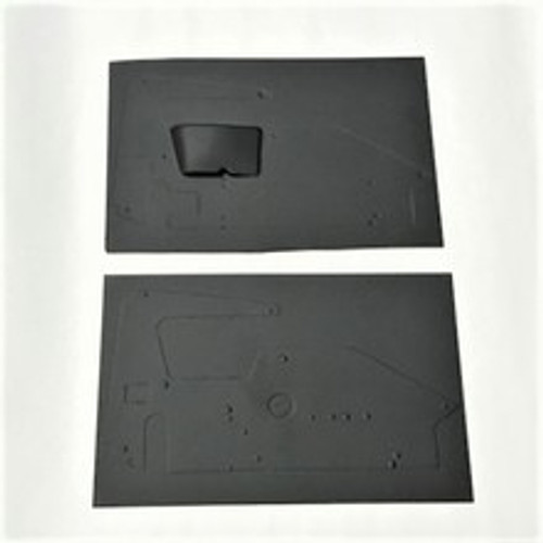 1RC Side Panel Set, Arm Guard, LH/RH (Flat Black) 1/18 Midget