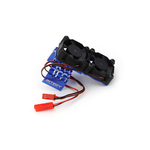 Motor Heatsink WIth Twin Fan For Slash 4x4(Blue)
