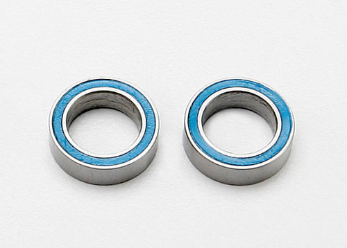 Traxxas Ball bearings, blue rubber sealed (8x12x3.5mm) (2)