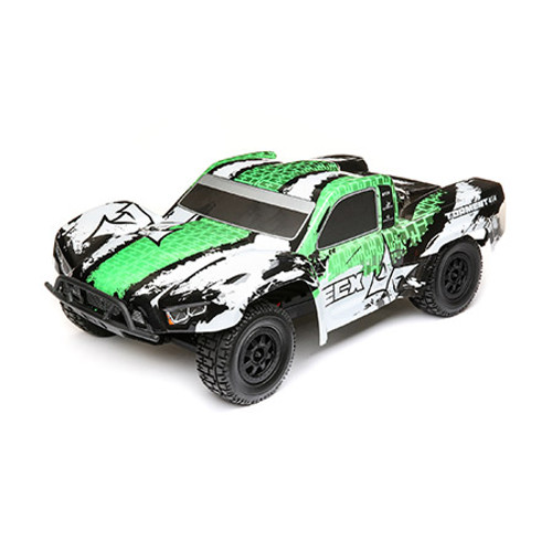ECX Torment 1/10th 4WD Short Course Truck (White/Green) w/STX2 2.4GHz Radio