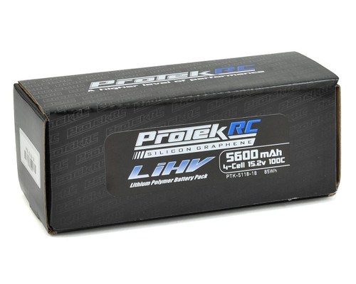 ProTek RC 4S 100C Silicon Graphene HV LCG LiPo Battery (15.2V/5600mAh) w/5mm Connector (ROAR Approved)