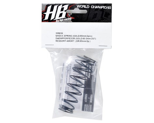 HB Racing 83mm Big Bore Shock Spring (Gold) (2) (70.3gF)