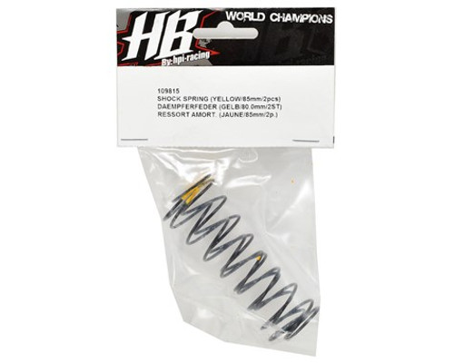 HB Racing 83mm Big Bore Shock Spring (Yellow) (2) (65.7gF)