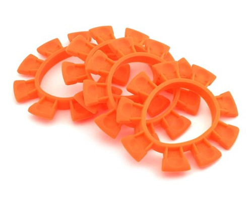 JCONCEPTS 1/8-1/10 Satellite Tire Rubber Bands - Orange